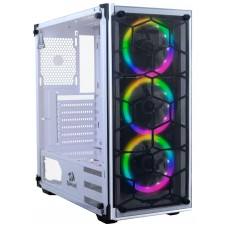 Gabinete Gamer Redragon Wheel Jack, Mid Tower, S-Fan, Vidro Temperado, White, S-fonte, GC-606W