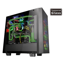 Gabinete Thermaltake Core G21 Tempered Glass Edition CA-1I4-00M1WN-00 Mid Tower Preto