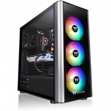 Gabinete Gamer Thermaltake Level 20 MT Argb, Mid Tower, Com 3 Fans, Vidro Temperado, Black, S-Fonte, CA-1M7-00M1WN-00