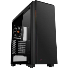 Gabinete Gamer Thermaltake Versa C23 TG RGB, Mid Tower, Com 1 Fan, Vidro Temperado, Black, S-Fonte, CA-1H7-00M1WN-00