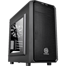 Gabinete Gamer Thermaltake Versa H15, Mini Tower, Com 1 Fan, Black, S-Fonte, CA-1D4-00S1WN-00