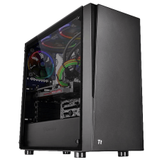 Gabinete Gamer Thermaltake, Versa J21 TG, Mid Tower, Vidro Temperado, Black, S/Fonte, C/1 Fan