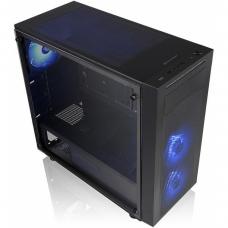 Gabinete Gamer Thermaltake Versa J22 RGB, Mid Tower, Com 3 Fans, Vidro temperado, Black, S-Fonte, CA-1L5-00M1WN-01