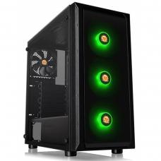 Gabinete Gamer Thermaltake Versa J23 RGB, Mid Tower, Com 4 Fans, Vidro Temperado, Black, S-Fonte, CA-1L6-00M1WN-01