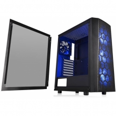 Gabinete Gamer Thermaltake Versa J24 RGB, Mid Tower, Com 4 Fans, Vidro temperado, Black, S-Fonte, CA-1L7-00M1WN-01