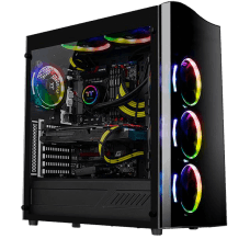 Gabinete Gamer Thermaltake View 22 TG, Mid Tower, Com 1 Fan, Vidro Temperado, Black, S-Fonte, CA-1J3-00M1WN-00
