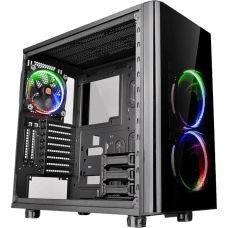 Gabinete Gamer Thermaltake View 31 TG RGB, Mid Tower, Com 3 Fans, Vidro Temperado, Black, S-Fonte, CA-1H8-00M1WN-01