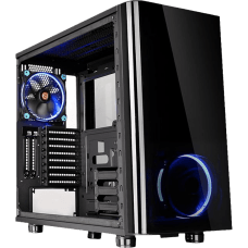 Gabinete Gamer Thermaltake View 31 TG, Mid Tower, Com 2 Fans, Vidro Temperado, Black, S-Fonte, CA-1H8-00M1WN-00