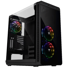 Gabinete Gamer Thermaltake View 37 RGB, Mid Tower, Black,, Com 3 Fans, Sem Fonte, CA-1J7-00M1WN-01