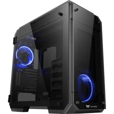 Gabinete Gamer Thermaltake View 71 TG, Full Tower, Com 1 Fan, Vidro Temperado, Black, S-Fonte, CA-1I7-00F1WN-00