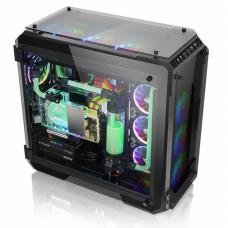 Gabinete Gamer Thermaltake View 71 RGB, Full Tower, Com 2 Fans, Vidro Temperado, Black, S-Fonte, CA-1I7-00F1WN-01