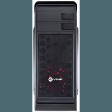 Gabinete Gamer Vinik Hunter Window, Mid Tower, Com 1 Fan Red, Black, S-Fonte