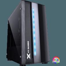 Gabinete Gamer Vinik VX Spectrum RGB, Mid Tower, Lateral em Acrílico, Black, S-Fonte