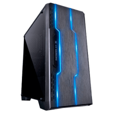 Gabinete Vinik Gamer VX Tron 27779 Full Window Fumê Mid Tower Preto LED 7 Cores S/Fonte - OPEN BOX