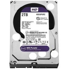 HD Western Digital Purple Surveillance 2TB, Sata III, 5400RPM, 64MB, WD20PURZ