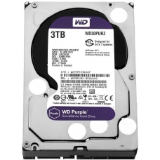 HD Western Digital Purple Surveillance 3TB, Sata III, 5400RPM, 64MB, WD30PURZ