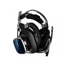 Headset Gamer Logitech Astro A40 + MixAmp Pro TR Gen 4 com Áudio Dolby, PS4, Pc, Black/Blue, 939-001791
