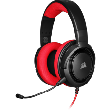 Headset Gamer Corsair HS35 Stereo Red, CA-9011198-NA
