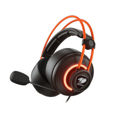 Headset Gamer Cougar Immersa Pro Prix, Surround 7.1, Black/Orange, 3H700U50C-0004