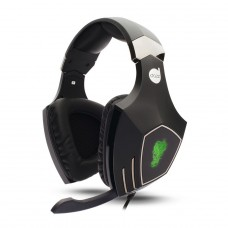 Headset Gamer Dazz, Rock Python, 7.1 Surround, USB, Black/Green, 622147 - Open Box