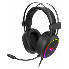 Headset Gamer Havit, RGB, Stereo, Black, H2016D