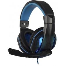 Headset Gamer Hoopson Pro Stereo, Preto e Azul, GA-2