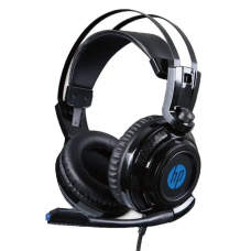 Headset Gamer HP  H200, Com Fio, USB + P2, Black, 8AA04AA