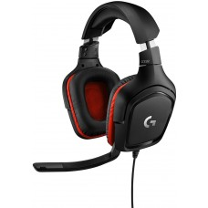 Headset Gamer Logitech G332, Estéreo, Preto/Vermelho, 981-000755