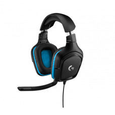 Headset Gamer Logitech G432, 7.1 Surround, Black/Blue, 981-000769