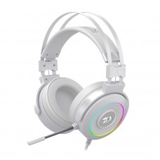 Headset Gamer Redragon Lamia Lunar White H320 RGB, Surround 7.1, Branco, H320W