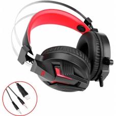 Headset Gamer Redragon Memecoleous H112 USB Preto/Vermelho