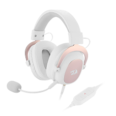 Headset Gamer Redragon Zeus 2, 7.1, Branco H510W