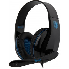 Headset Gamer Sades Sa-701 Tpower, Stereo, Black/Blue, SA-701