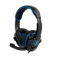 Headset Gamer Sades Sa-708 Gpower, Stereo, Black/Blue, SA-708
