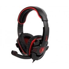 Headset Gamer Sades Sa-708 Gpower, Stereo, Black/Red, SA-708
