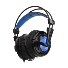 Headset Gamer Sades Sa-904 Locust Plus, RGB, 7.1 Surround, Black/Blue, Sa-904