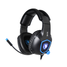 Headset Gamer Sades Sa-905 Dazzle, 7.1 Surround, Black/Blue, Sa-905