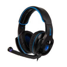 Headset Gamer Sades Sa-923 Hammer, 7.1 Surround, Black/Blue, Sa-923