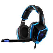 Headset Gamer Sades Sa-968 Luna, 7.1 Surround, Black/Blue, SA-968
