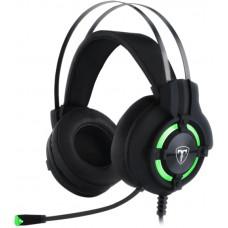 Headset Gamer T-Dagger Andes, USB, Black e Green, T-RGH300