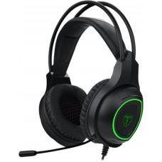 Headset Gamer T-Dagger Atlas, USB, Black e Green, T-RGH201
