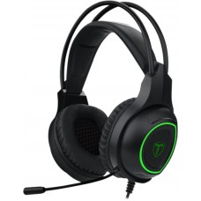 Headset Gamer T-Dagger Atlas, USB, Black e Green, T-RGH201