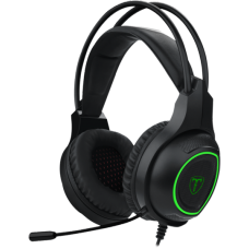 Headset Gamer T-Dagger Atlas, USB, Black e Green, T-RGH201 - Open Box