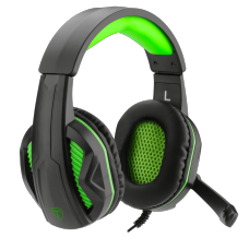 Headset Gamer T-Dagger Cook 2, 2x3.5mm, Black/Green, T-RGH100-1
