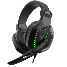 Headset Gamer T-Dagger Eiger, 3.5mm + USB, Green, T-RGH208