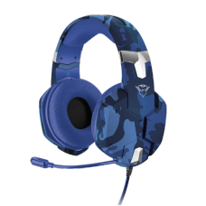 Headset Gamer Trust Carus, Multiplataforma, Azul, GXT322B - Open Box