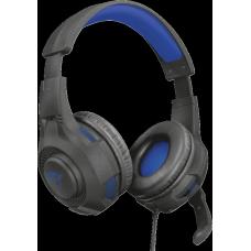 Headset GamerTrust Ravu, PlayStation 4, Preto e Azul, GXT307B
