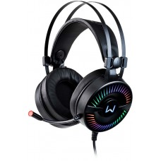 Headset Gamer Warrior Flamma, RGB, Stereo, Black, PH306 - Open Box