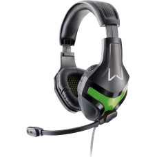 Headset Gamer Warrior Harve Stereo, Preto/Verde, PH298
