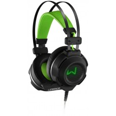 Headset Gamer Warrior Swan, Stereo, USB, Preto/Verde, PH225